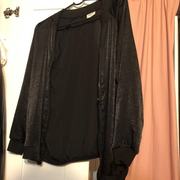 Jackets & Blazers - black light bomber jacket